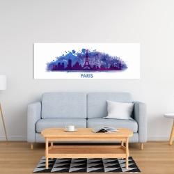 Canvas 16 x 48 - Paint splash silhouette of paris