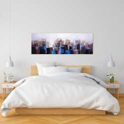 Canvas 16 x 48 - Abstract cold city