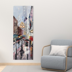 Canvas 16 x 48 - Rainy day in new york