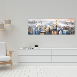 Canvas 16 x 48 - Abstract new york city