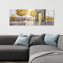 Canvas 16 x 48 - Arc de triomphe to paris