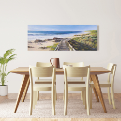 Canvas 16 x 48 - Walk to the seaside