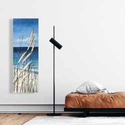Canvas 16 x 48 - Wild herbs in the wind on at the beach