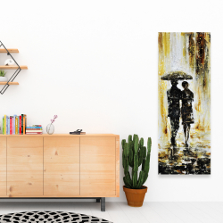 Canvas 16 x 48 - Couple under the rain