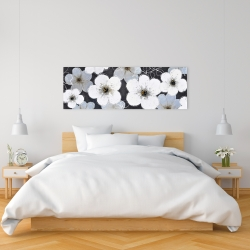 Canvas 16 x 48 - Gray flowers