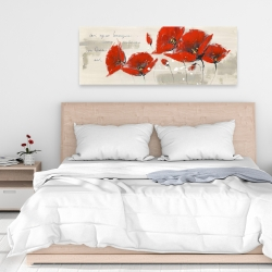 Canvas 16 x 48 - Red flowers with an handwritten typo