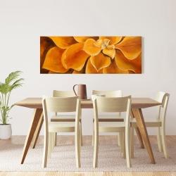 Canvas 16 x 48 - Orange flower closeup