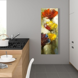 Canvas 16 x 48 - Orange and yellow flowers