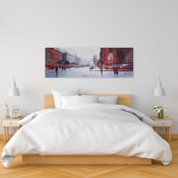 Canvas 16 x 48 - Black and red street scene