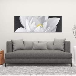 Canvas 16 x 48 - Overhead view of a lotus flower