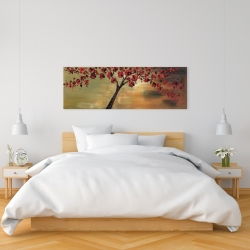 Canvas 16 x 48 - Red flowers tree