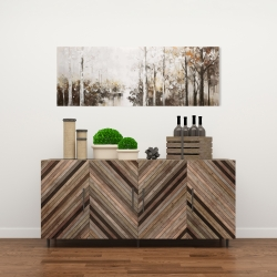 Canvas 16 x 48 - Abstract white forest