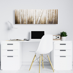 Canvas 16 x 48 - Texturized abstract forest