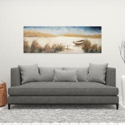Canvas 16 x 48 - Abandoned boat