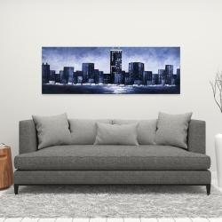 Canvas 16 x 48 - Dark blue cityscape