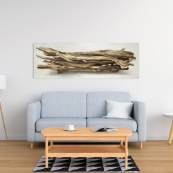 Canvas 16 x 48 - Floated wood left by the sea