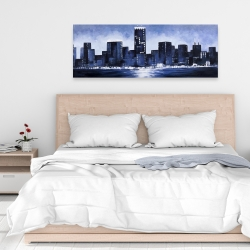 Canvas 16 x 48 - Marine blue city