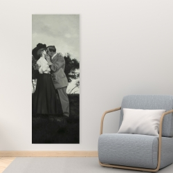 Canvas 16 x 48 - Vintage couple kissing