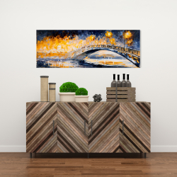 Canvas 16 x 48 - Bridge in the moonlight