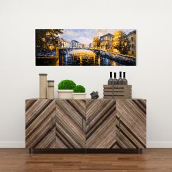 Canvas 16 x 48 - Bridge by a sunny day