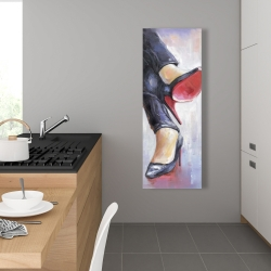 Canvas 16 x 48 - Crossed legs and high heels