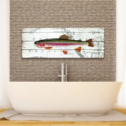 Canvas 16 x 48 - Trout on a world map