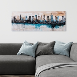 Canvas 16 x 48 - Buildings on the horizon