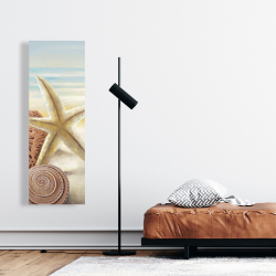 Canvas 16 x 48 - Starfish and seashells at the beach