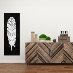 Canvas 16 x 48 - Native american feather