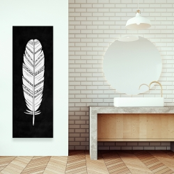 Canvas 16 x 48 - Feather with patterns