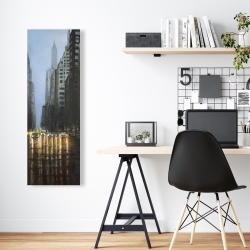 Canvas 16 x 48 - Evening in the streets of new-york city