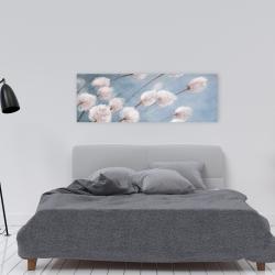 Canvas 16 x 48 - Delicate cotton flowers