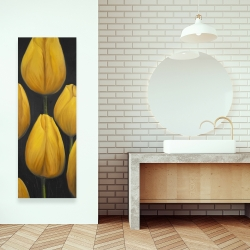 Canvas 16 x 48 - Six daffodils flowers