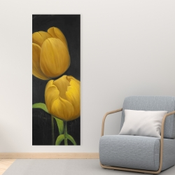 Canvas 16 x 48 - Two daffodils flowers