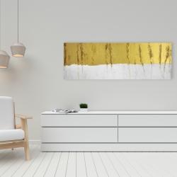 Canvas 16 x 48 - Golden stripe
