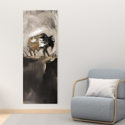 Canvas 16 x 48 - Abstract buffalo