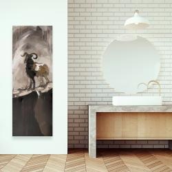 Toile 16 x 48 - Fier bélier abstrait
