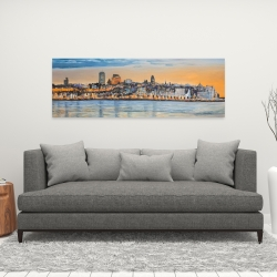 Canvas 16 x 48 - Skyline of quebec city