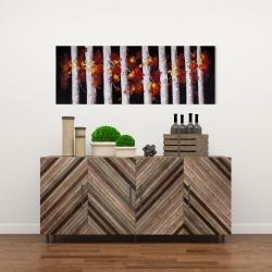 Toile 16 x 48 - Arbres et feuilles d'automne