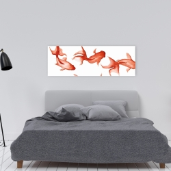 Canvas 16 x 48 - Small red fishes