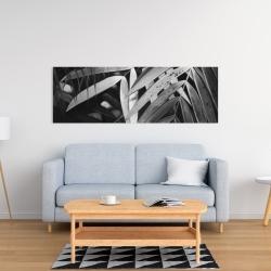 Canvas 16 x 48 - Monochrome tropicals leaves