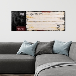 Canvas 16 x 48 - Wood looking art with numbers