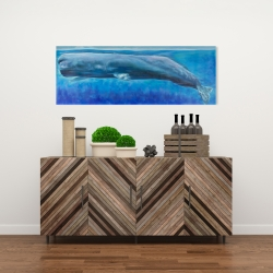 Canvas 16 x 48 - Sperm whale