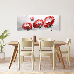 Canvas 16 x 48 - Wild flowers on gray background