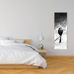 Canvas 16 x 48 - Four birds perched