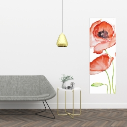 Canvas 16 x 48 - Watercolor poppies