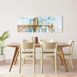 Canvas 16 x 48 - Gold brooklyn bridge