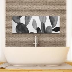 Canvas 16 x 48 - Grayscale cactus