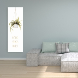 Canvas 16 x 48 - Good vibes only