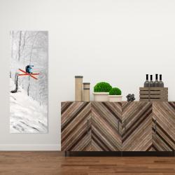 Canvas 16 x 48 - Man skiing in steep offpiste terrain